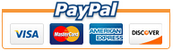 We accept Visa, MasterCard, American Express, Discover & Paypal